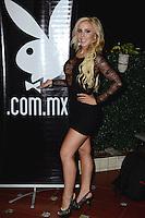 La Playmate del Año Día Elsa durante el photocall para anunciar la portada de diciembre 2015 de la revista Playboy México