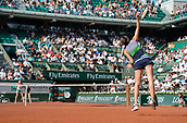 8th June 2017, Roland Garros, Paris, France; French Open tennis championships;  Kristyna Pliskova  (CZE) as she loses her ladies singles semi-final match against Simona Halep (Rom)