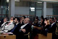 Roma, 13 Ottobre 2017<br /> Ilaria Cucchi e l'avvocato Fabio Anselmo.<br /> Aula Bunker di Rebibbia<br /> Prima udienza del nuovo processo per la morte di Stefano Cucchi che vede imputati 5 Carabinieri.<br /> Il processo  è stato rinviato al 20 ottobre dopo che la presidente della Terza Corte d'Assise si è astenuta per incompatibilità, visto che era stata già giudice del primo processo per la morte del giovane.
