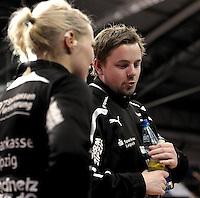 1. Bundesliga Handball Frauen - Punktspiel HC Leipzig (HCL) : DJK / MJC Trier - Arena Leipzig - im Bild: HCL Coach / Trainer Heine Jensen. Foto: Norman Rembarz ..
