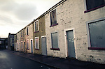 Abandoned boarded up houses in Burnley that runways often hide out in.<br />