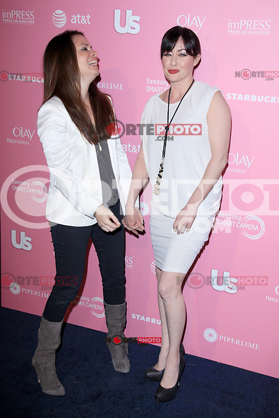 Holly Marie Combs and Shannen Doherty at Us Weekly's Hot Hollywood Style Event at Greystone Manor Supperclub on April 18, 2012 in West Hollywood, California. ©mpi28/MediaPunch Inc.