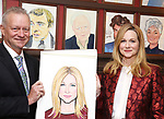 Max Klimavicius and Laura Linney attends the portrait unveilings of Laura Linney and Cynthia Nixon starring on Broadway in the Manhattan Theatre Club's THE LITTLE FOXES, at Sardi's on June 29, 2017 in New York City.