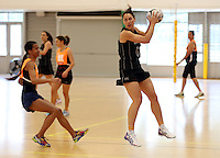 14.10.2014 Silver Ferns Jodi Brown in action at the Silver Ferns Training ahead of their netball test match in Auckland tomorrow night. Mandatory Photo Credit ©Michael Bradley.