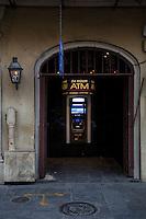 French Quarter, New Orleans, Louisiana.  24-hour ATM Machine.