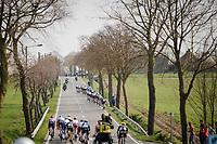 echelon formation at play<br /> <br /> 81st Gent-Wevelgem 'in Flanders Fields' 2019<br /> One day race (1.UWT) from Deinze to Wevelgem (BEL/251km)<br /> <br /> ©kramon