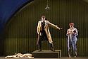 London, UK. 05.10.2016. English Touring Opera presents XERXES, by George Frideric Handel, at the Hackney Empire, prior to setting off on a UK tour. Picture shows: Peter Brathwaite (Elviro), Galina Averina (Atalanta). Photograph © Jane Hobson.