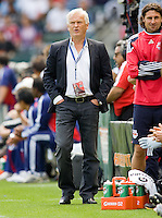 NY RedBulls head coach Hans Backe. Chivas USA defeated the Red Bulls of New York 2-0 at Home Depot Center stadium in Carson, California April 10, 2010.  .