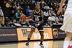 18 February 2016: Notre Dame's Lindsay Allen. The Wake Forest University Demon Deacons hosted the University of Notre Dame Fighting Irish at Lawrence Joel Veterans Memorial Coliseum in Winston-Salem, North Carolina in a 2015-16 NCAA Division I Women's Basketball game. Notre Dame won the game 86-52.