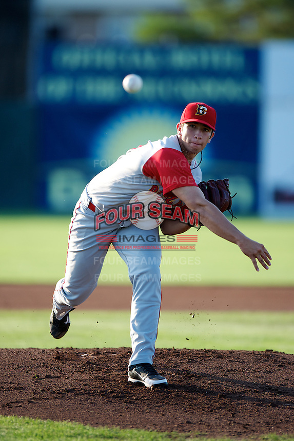 Brooklyn Cyclones pitcher Luis Cessa #35 delivers a pitch during a game against the Batavia Muckdogs at Dwyer Stadium on July 27, 2012 in Batavia, New York.  Batavia defeated Brooklyn 2-0.  (Mike Janes/Four Seam Images)