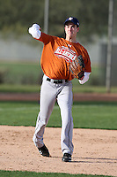 January 16, 2010:  Ricky Alanis (Mission, TX) of the Baseball Factory Texas Team during the 2010 Under Armour Pre-Season All-America Tournament at Kino Sports Complex in Tucson, AZ.  Photo By Mike Janes/Four Seam Images