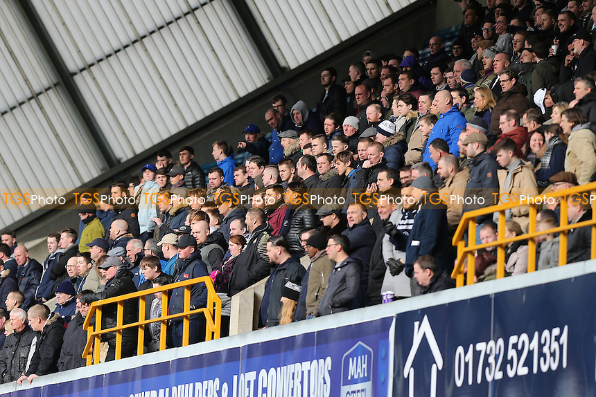 Millwall fans look on during Millwall vs Watford, Emirates FA Cup Football at The Den on 29th January 2017