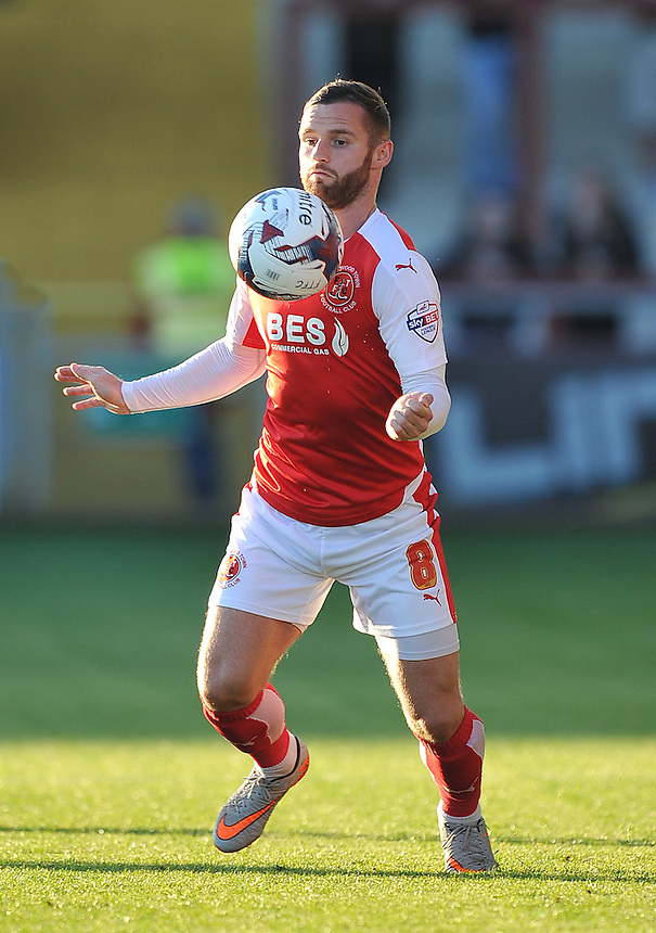 Fleetwood Town's Jimmy Ryan<br /> <br /> Photographer Dave Howarth/CameraSport<br /> <br /> Football - Capital One Cup First Round - Fleetwood Town v Hartlepool United - Tuesday 11th August 2015 - Highbury Stadium - Fleetwood<br />  <br /> &copy; CameraSport - 43 Linden Ave. Countesthorpe. Leicester. England. LE8 5PG - Tel: +44 (0) 116 277 4147 - admin@camerasport.com - www.camerasport.com