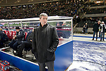 Home manager Friedhelm Funkel pictured before Hertha Berlin take on Sporting Lisbon in the Olympic Stadium in Berlin in a UEFA Europa League group match. Hertha won the match by 1 goal to nil to press to the knock-out round of the cup. 2009/10 was the the first year in which the Europa League replaced the UEFA Cup in European football competition.