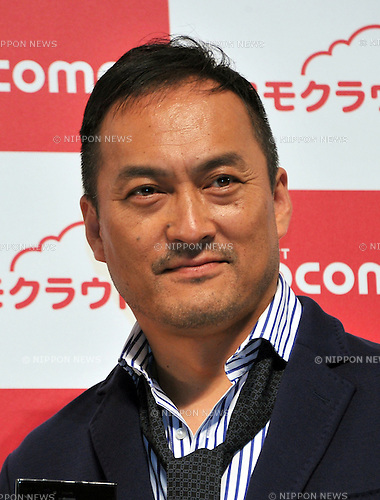 May 16, 2012, Tokyo, Japan - Actor Ken Watanabe, NTT Docomo's commercial character, attends a launch of its new collection of smartphones for the summer of 2012 in Tokyo on Wednesday, May 16, 2012. Docomo released 16 smartphones, of which 11 models are compatible with its Xi LTE service for extra-fast access and navigation. (Photo by Natsuki Sakai/AFLO) AYF -mis-