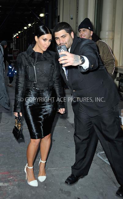 WWW.ACEPIXS.COM<br /> <br /> January 8 2015, New York City<br /> <br /> Kim Kardashian went shopping in Soho on January 8 2015 in New York City<br /> <br /> By Line: Curtis Means/ACE Pictures<br /> <br /> <br /> ACE Pictures, Inc.<br /> tel: 646 769 0430<br /> Email: info@acepixs.com<br /> www.acepixs.com
