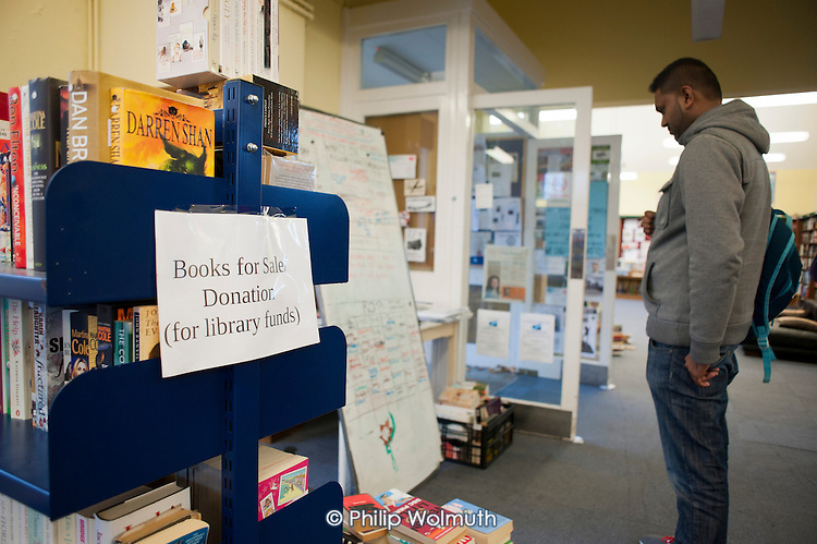 Friern Barnet library, which has been restocked and reopened as The People's Library and community hub by activists and local residents.