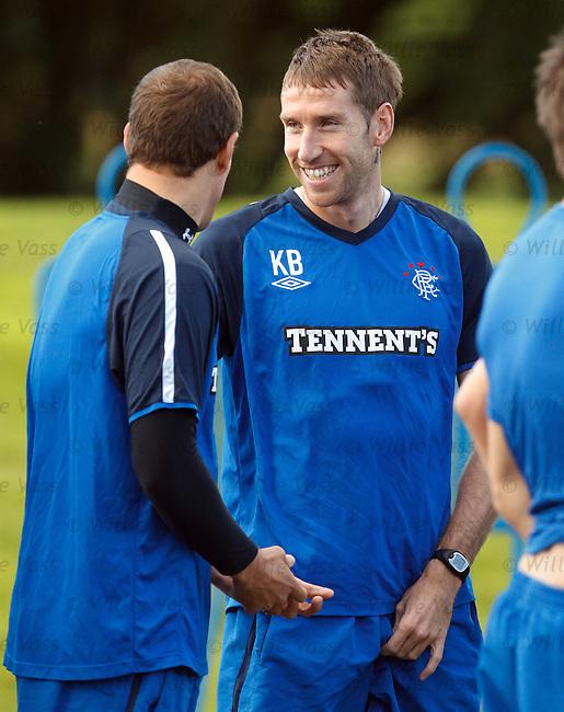 Kirk Broadfoot having a laugh