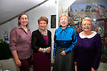 celebration of the full accreditation status of Millmount Museum were Elaine Hanrahan, Deirdre Howard Russell, Mary Malone and Betty Quinn<br /> Picture: Fran Caffrey www.newsfile.ie