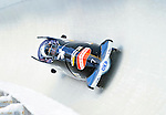 19 December 2010: Karl Angerer pilots his 4-Man Bobsled team to a 4th place finish for Germany at the Viessmann FIBT World Cup Championships on Mount Van Hoevenberg in Lake Placid, New York, USA. Mandatory Credit: Ed Wolfstein Photo