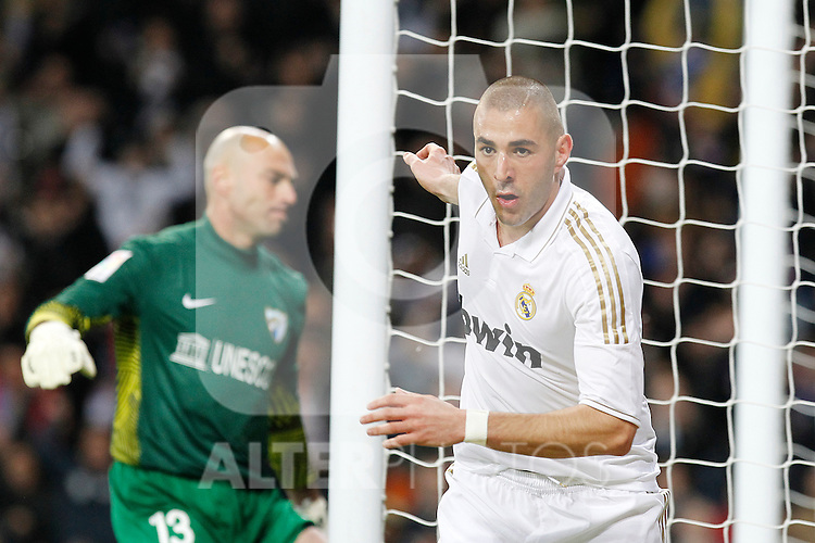 Real Madrid's Karim Benzema goal during la Liga match on march 18th 2012...Photo: Alex Cid-Fuentes / ALFAQUI