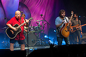 TENACIOUS D - Kyle Gass and Jack Black aka Tenacious D performing live at The Wiltern Theatre in Los Angeles, CA USA - July 31, 2012.  Photo Credit: Kevin Estrada / Iconicpix
