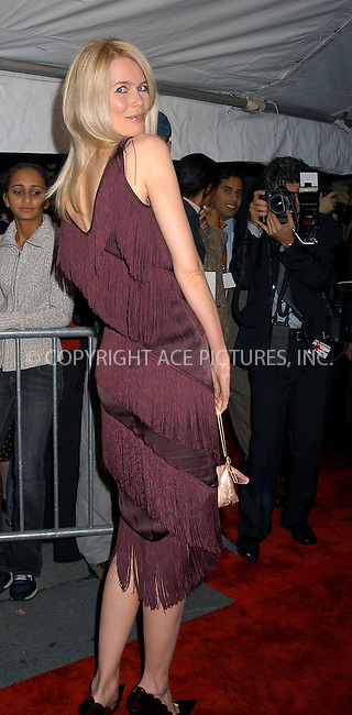 Claudia Schiffer arriving at the premiere of 'Love Actually' in New York. November 6, 2003. Please byline: AJ SOKLANER/NY Photo Press.   ..*PAY-PER-USE*      ....NY Photo Press:  ..phone (646) 267-6913;   ..e-mail: info@nyphotopress.com