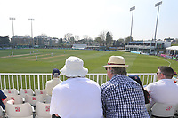 Spectators in sun hats look on during Essex CCC vs Lancashire CCC, Specsavers County Championship Division 1 Cricket at The Cloudfm County Ground on 8th April 2017