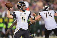 Tampa, FL - September 4th, 2016: Towson Tigers quarterback Morgan Mahalak (6) in action during game against USF at Raymond James Stadium in Tampa, FL. (Photo by Phil Peters/Media Images International)