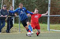 Thorben Dorer (SKV Büttelborn) gegen Tomislav Tadijan (Riedrode) - Büttelborn 03.10.2019: SKV Büttelborn vs. FSG Riedrode, Gruppenliga Darmstadt