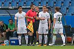 16.07.2017, Stadion an der Bremer Bruecke, Osnabrueck, GER, FSP VfL Osnabrueck vs SV Werder Bremen<br /> <br /> im Bild<br /> Spielerwechsel Werder Bremen, Einwechslung Niklas Schmidt (Werder Bremen #38), Auswechslung Philipp Bargfrede (Werder Bremen #44), <br /> <br /> Foto &copy; nordphoto / Ewert