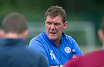 St Johnstone FC Training...<br /> Manager Tommy Wright talks to his players<br /> Picture by Graeme Hart.<br /> Copyright Perthshire Picture Agency<br /> Tel: 01738 623350  Mobile: 07990 594431