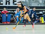 Almere - Zaalhockey  Amsterdam-HGC (v) . Noor de Baat (A'dam)   .  TopsportCentrum Almere.    COPYRIGHT KOEN SUYK