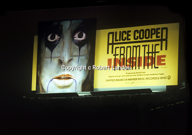 Alice Cooper  billboard on the Sunset Strip circa 1978