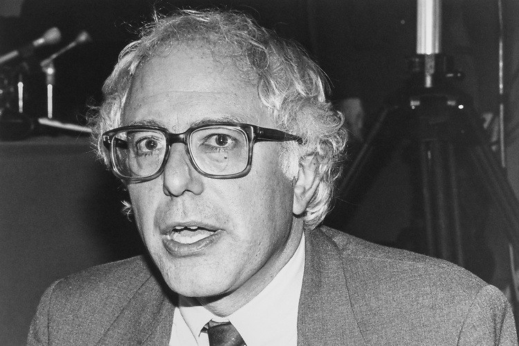 Rep. Bernie Sanders, IND-Vt., on Oct. 29, 1990. (Photo by Laura Patterson/CQ Roll Call via Getty Images)