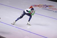 SPEEDSKATING: CALGARY: 14-11-2015, Olympic Oval, ISU World Cup, 1000m B-division, Mirko Giacomo Nenzi (ITA), ©foto Martin de Jong