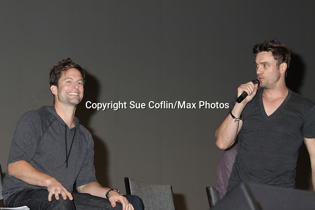 Michael Muhney & Daniel Goddard at the Soapstar Spectacular starring actors from OLTL, Y&R, B&B and ex ATWT & GL on November 20, 2010 at the Myrtle Beach Convention Center, Myrtle Beach, South Carolina. (Photo by Sue Coflin/Max Photos)