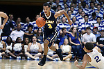 04 November 2016: Augustana's John Warren (3) sprints away from Duke's Chase Jeter (2). The Duke University Blue Devils hosted the Augustana University Vikings at Cameron Indoor Stadium in Durham, North Carolina in a 2016-17 NCAA Division I Men's Basketball exhibition game.