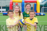 Gaelscoil Listowel Oisin O'Maoldomhnaigh, Laura Ni Chroidheain, Clodagh Ni Hannain, Josh De Barra. at the Active Kingdom in the Tralee sports complex on Thursday