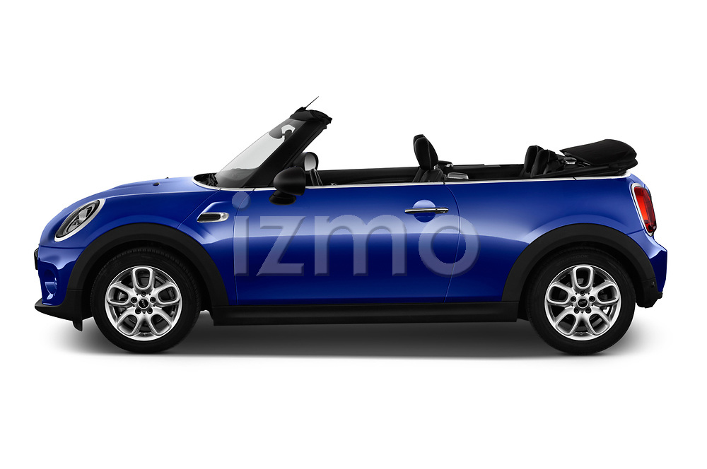 Car driver side profile view of a 2018 Mini MINI One Salt 2 Door Convertible