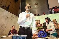 SAO PAULO, SP, 22.03.2014 - LANCAMENTO PRE CANDIDATURA EDUARDO JORGE A PRESIDENCIA - Eduardo Jorge durante lancamento da sua pre candidatura a presidencia da Republica pelo Partido Verde, ato realizado na Assembleia Legislativa de Sao Paulo, neste sabado, 22. (Foto: Vanessa Carvalho / Brazil Photo Press)
