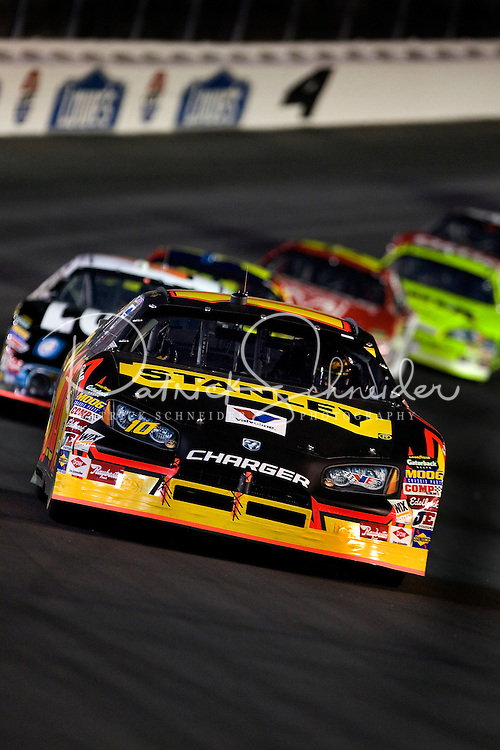 Drivers make their way through turn four during the Bank of America 500 NASCAR race at Lowes's Motor Speedway in Concord, NC.