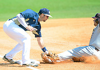 Florida International University infielder Mike Martinez (40) plays against ULM. FIU won the game 8-6 on April 1, 2012 at Miami, Florida.