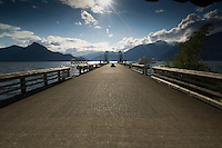 Ferry Pier off the Sea to sky highway,between Vancouver and Squamish.British Columbia, Canada