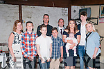 Baby Sean Halpin who was christened in St. Mary's Church, Listowel on Saturday last by Canon Declan O'Connor and afterwards at Brosnan's Bar, Listowel. L-R: Josephine Mullane Dylan Halpin, Ethan Mullane, Jame Deedigan, James Halpin, Damiem & Nicola & Sean Halpin,m Josh Mullane & Jennifer Mullane.