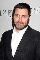"""LOS ANGELES - MAR 9:  Nick Offerman arriving at the """"Parks and Recreation"""" PaleyFest 2011 at Saban Theatre on March 9, 2011 in Beverly Hills, CA"""