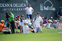 Scott Piercy (USA) hits from the trap on 18 during round 3 of the Dean &amp; Deluca Invitational, at The Colonial, Ft. Worth, Texas, USA. 5/27/2017.<br /> Picture: Golffile | Ken Murray<br /> <br /> <br /> All photo usage must carry mandatory copyright credit (&copy; Golffile | Ken Murray)