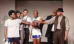 Cast: Ade Otukoya, Lamar Cheston, Jeantique Oriol, Thaddeus Daniels, Layon Gray, Delano Barbosa star in Layon Gray's Kings of Harlem - a story about the Harlem Rens who were one of the dominant basketball teams of the 1920's and 1930's - had a special show on September 15, 2015 at St. Luke's Theatre, New York City, New York. The play stars Melvin Huffnagle, Thaddeus Daniels, Ade Otukoya, Lamar Cheston, Delano Barbosa, Jeantique Oriol and Layon Gray.  (Photo by Sue Coflin/Max Photos)