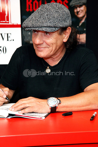 Brian Johnson , lead singer of AC/DC pictured at a book signing for Rockers and Rollers at Bookends in Ridgewood, NJ on May 26, 2011  © Star Shooter / MediaPunchInc