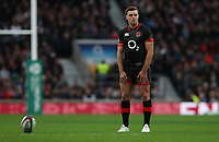 England's George Ford<br /> <br /> Photographer Rachel Holborn/CameraSport<br /> <br /> International Rugby Union Friendly - Old Mutual Wealth Series Autumn Internationals 2017 - England v Argentina - Saturday 11th November 2017 - Twickenham Stadium - London<br /> <br /> World Copyright &copy; 2017 CameraSport. All rights reserved. 43 Linden Ave. Countesthorpe. Leicester. England. LE8 5PG - Tel: +44 (0) 116 277 4147 - admin@camerasport.com - www.camerasport.com